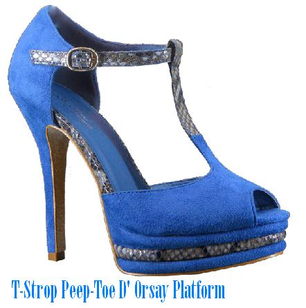 T-Strop Peep-Toe D' Orsay Platform