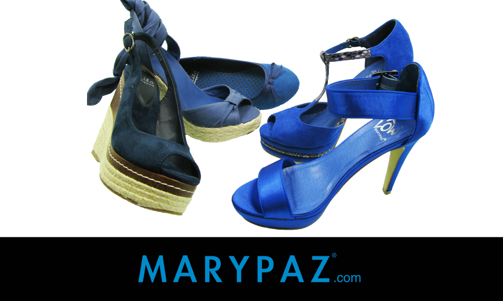Zapatos azules MARYPAZ