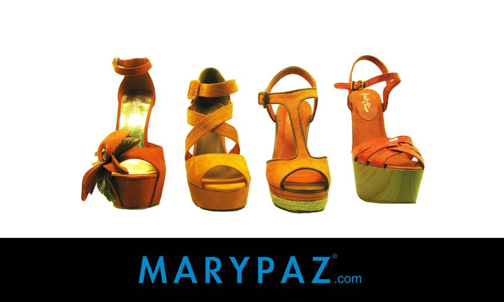 Zapatos naranjas MARYPAZ