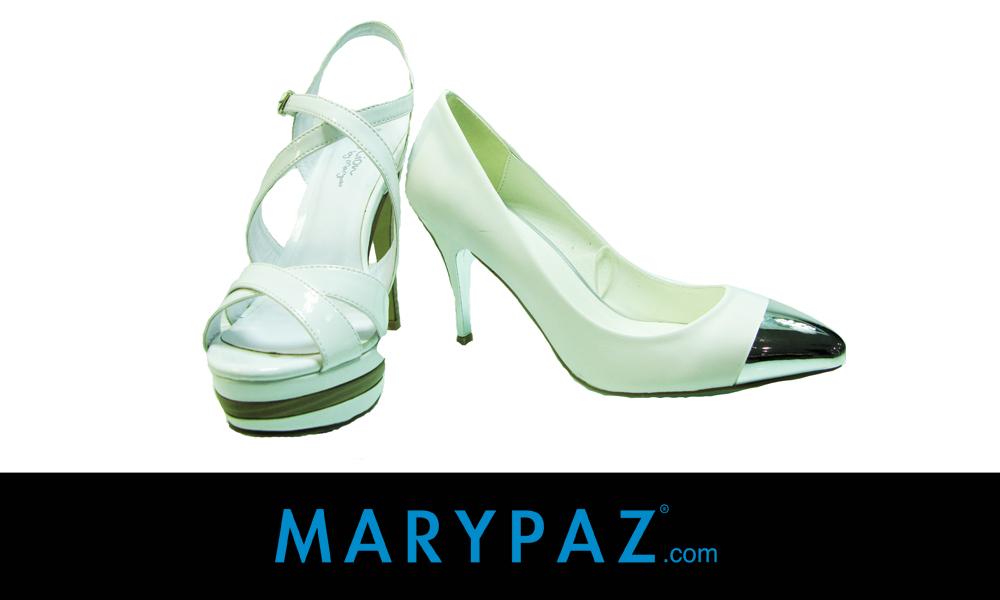 zapatos blancos MARYPAZ