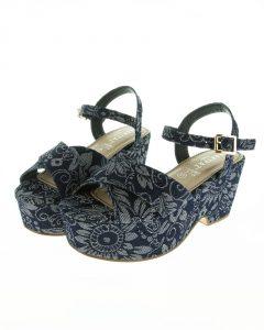 zapatos estampados floral cuña