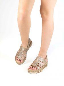 zapatos estampados flatform