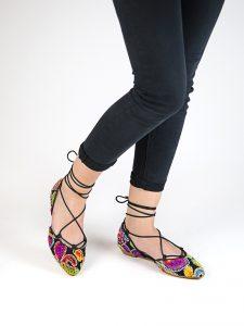 zapatos estampados mercedita