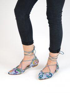 zapatos estampados mercedita multitiras