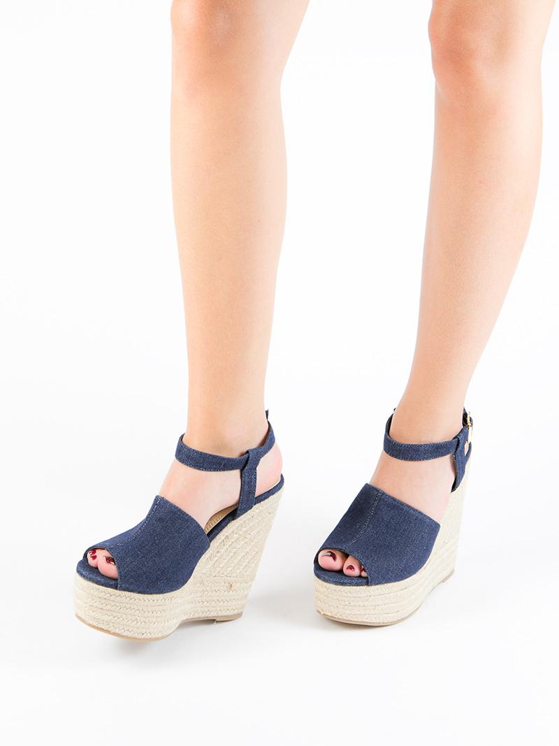 sandalias de cuna denim